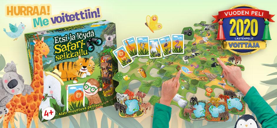 Etsi ja löydä! Safariseikkailu, Vuoden Peli -kilpailun voittaja!