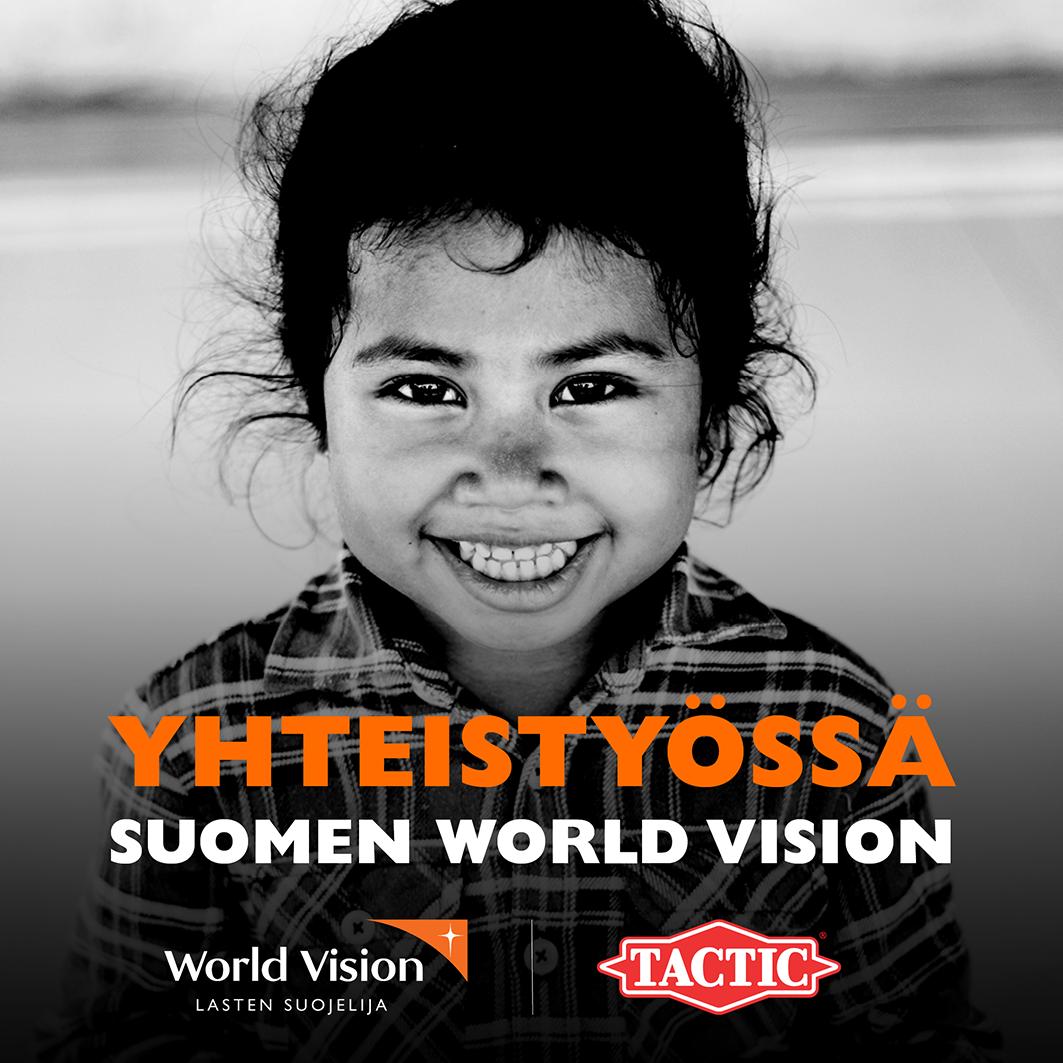 Yhteistyötä Suomen World Visionin kanssa.